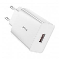 Baseus Quick Charger PD + QC 3.0 18W - White