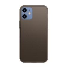 Etui Baseus Frosted Glass Case do iPhone 12 / iPhone 12 Pro - Black