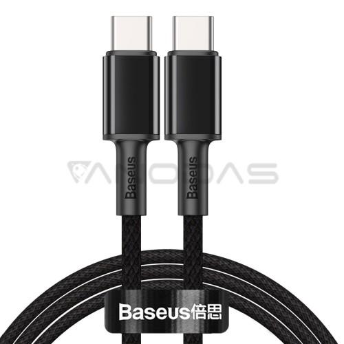 Baseus High Density Braided USB-C - USB-C kabelis 100W 2m - Juodas