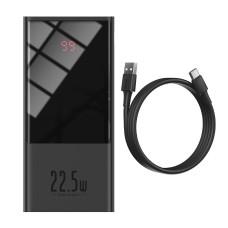 Baseus Super Mini Powerbank 20000mAh USB + USB-C SCP QC 3.0 PD 22.5W - Juodas