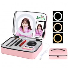 Puluz Make-up case with LED mirror and phone holder