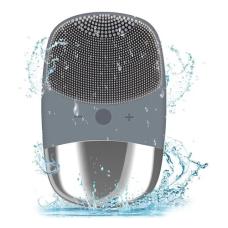 ANLAN Mini silikoninis elektrinis veido valymo šepetėlis - pilkas