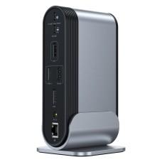 Baseus Working Station Multifunctional Type-C HUB Adapter (CN+UK+EU) - Dark grey