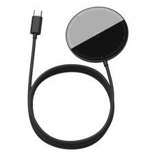 Baseus Simple mini magnetinis belaidis įkroviklis MagSafe 15W - Juodas