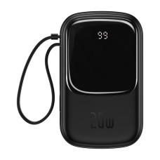 Baseus Qpow 20000mAh Power Bank IP, USB, USB-C, 20W with Lightning Cable - Black