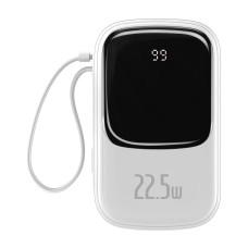Baseus Qpow 20000mAh Power Bank IP, USB, USB-C, 22.5W with USB-C cable - White