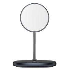 Magnetinis Baseus Swan MagSafe stovas su belaidžiu įkrovikliu skirtas iPhone 12 - Juodas
