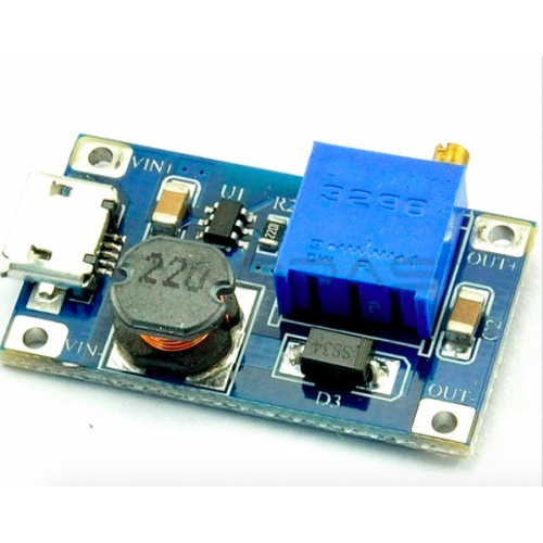 DC/DC wide voltage input module adjustable 2V-24V to 5V-28V 2577