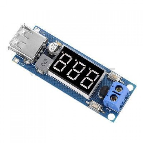 DC/DC Converter module from 4.5V-40V to 5V 2A + voltmeter (STEP DOWN)