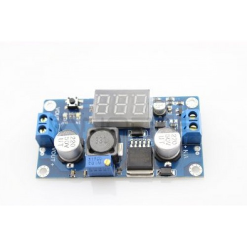 DC/DC Converter module from 4V-40V to 1.5V-35V + voltmeter (STEP DOWN)