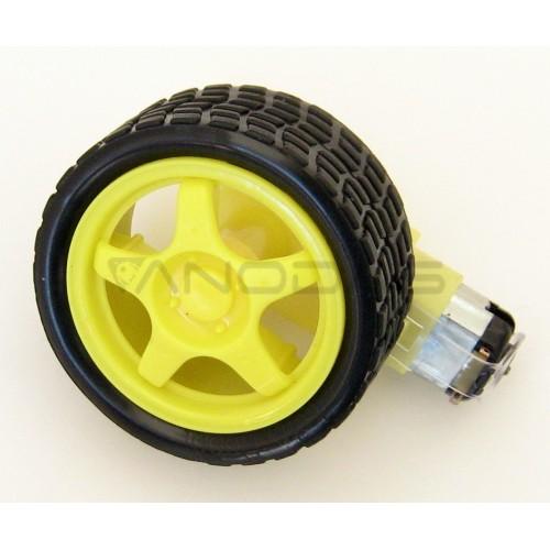DC motor + wheel