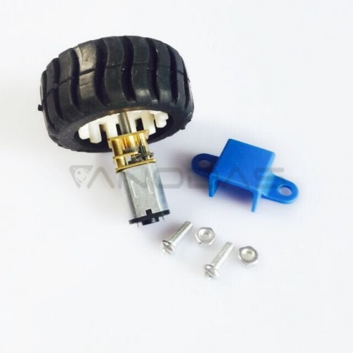 N20 gearmotor 30RPM + wheel + anchor kit