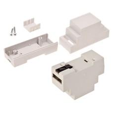 Plastic box Kradex Z103J ABS V0 light gray mounted on DIN rail 89x63x34mm