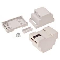 Plastikinė dėžutė Kradex Z102 ABS V0 šviesiai pilka montuojama ant DIN begelio 89x65x53mm
