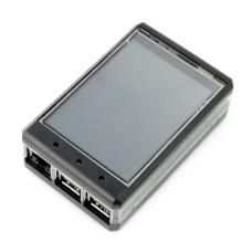 """Dėžutė Waveshare LCD Ekranui 3.2"""" ir Raspberry Pi mikrokompiuteriui"""