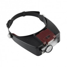Magnifying Glass 1.5x 3x 8.5x 10x Headband Magnifier Watch Repair Tool with LED Light