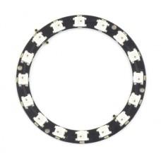 Diodų žiedas LED RGB WS2812B 5050x16 - 68mm