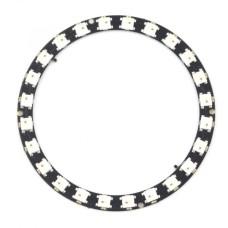 Diodų žiedas LED RGB WS2812B 5050x24 - 86mm