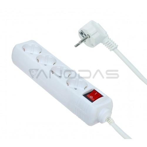 Elektros tinklo ilgintuvas 1.5m su 4 įžemintais lizdais ir jungikliu