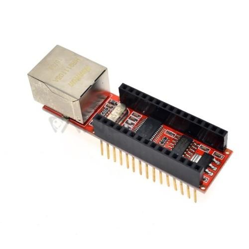 ENC28J60 Ethernet Priedėlis Arduino Nano Mikrovaldikliui