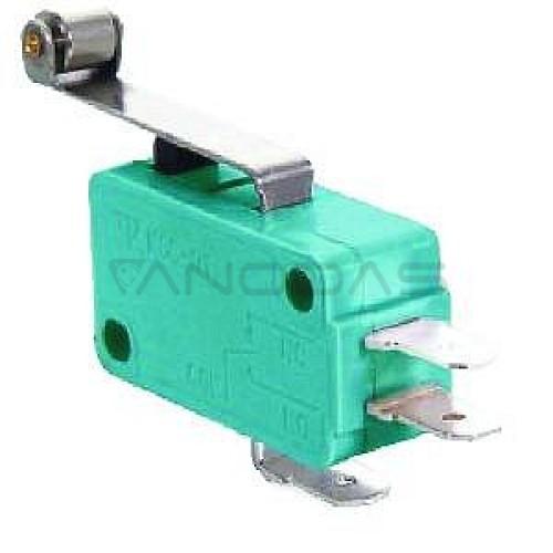 Galinis jungiklis ON-(ON) SPDT 12mm 5A 250VA12