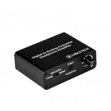 Digital to analog audio converter with headphone output