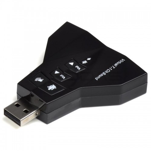 Garso plokštė - Virtual 7.1 Channel USB - Jack