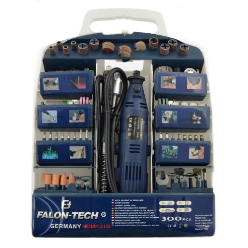 Graveris-šlifuoklis Falon Tech MG01 su aksesuarais - 320 elementų