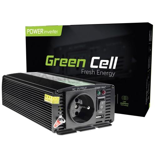 Inverteris 24/230V 500W modifikuota sinusinė išėjimo įtampa Green Cell