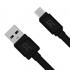 Green Cell USB-C Flat cable Quick Charge 3.0 25cm