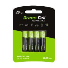 Akumuliatorius Green Cell HR6 Ni-MH AA 2600mAh (4vnt.)