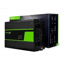 Inverteris 24V/230V 1500W/3000W Sinusinė išėjimo įtampa Green Cell