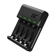 GC VitalCharger Ni-MH AA ir AAA akumuliatorių įkroviklis su Micro USB ir USB-C jungtimi