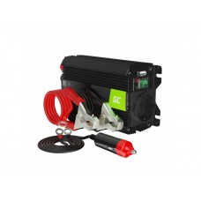 Inverteris 12V/230V 300W/600W Modifikuota sinusinė išėjimo įtampa Green Cell