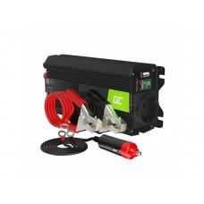 Inverteris 12V/230V 500W/1000W Modifikuota sinusoidė išėjimo įtampa Green Cell