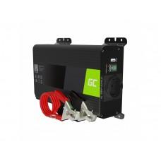 Inverteris 12V/230V 300W/600W sinusinė išėjimo įtampa Green Cell su USB