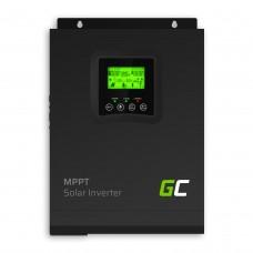 Saulės baterijų valdiklis MPPT 12VDC 230VAC 1000AV / 1000W sinusinė išėjimo įtampa