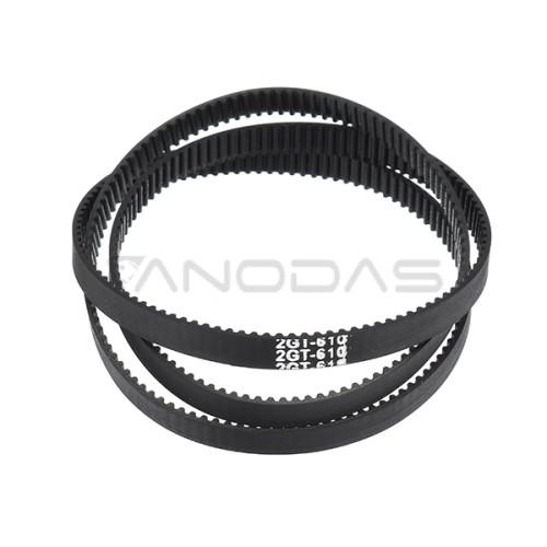 GT2 6mm Closed Loop Timing Belt - 400mm