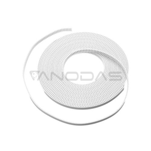GT2 Dirželis 6mm Plotis - 1m Ilgis baltas High Quality (matuojamas)