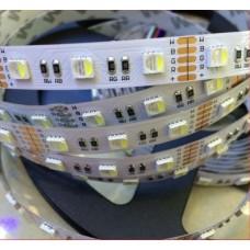 Hermetinė 5050 RGB+Šiltai balta 60 LED/1M Šviesos Diodų Juosta
