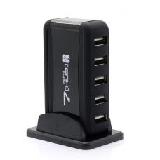 7 prievadų USB 2.0 šakotuvas su vertikaliu stovu