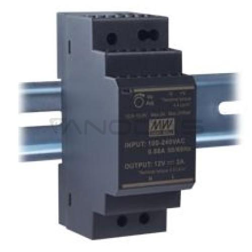 Impulsinis maitinimo šaltinis 12V 2A 24W tvirtinamas ant DIN bėgelio Mean Well