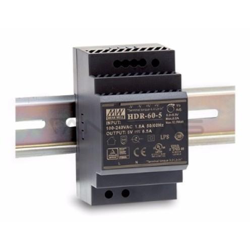 Impulsinis maitinimo šaltinis 32.5W 5VDC 5÷5.5VDC 6.5A tvirtinamas ant DIN bėgelio Mean Well