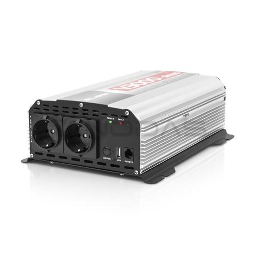 Inverteris 12V/230V 1500W SINUS