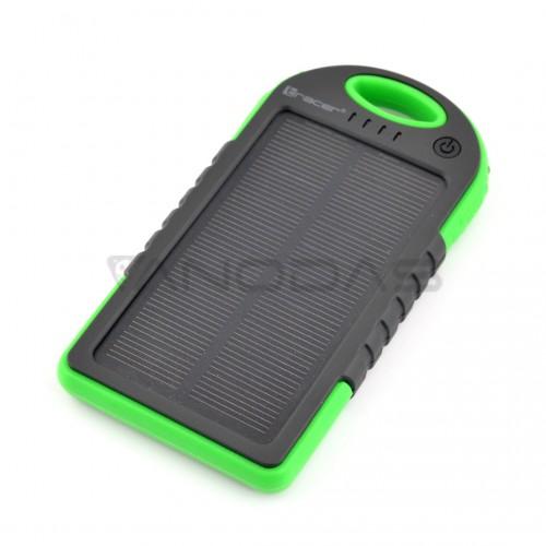 Išorinė baterija 5V 5000mAh (Power Bank) su saulės baterija