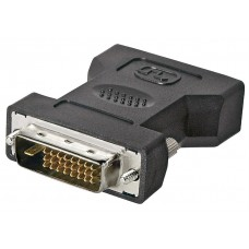 DVI-I/DVI-D adapter nickel plated
