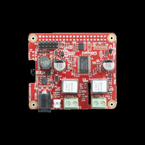 JustBoom Amp Hat - D-klasės Garso Stiprintuvas 2x55W Raspberry Pi 3/2/B+