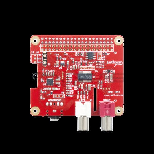 JustBoom DAC Hat - Raspberry Pi 3/2/B+ Garso Plokštė