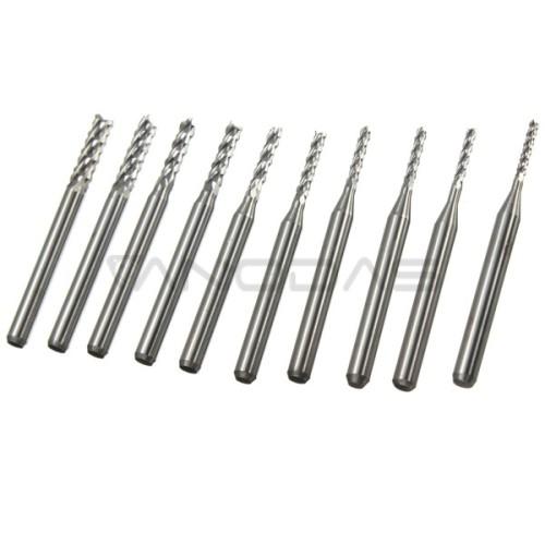 Karbido frezų rinkinys 1.3-3.0mm - 3.175mm