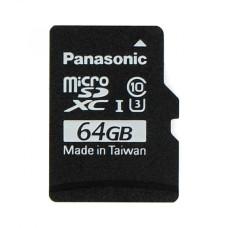64GB 40Mb/s microSD kortelė Panasonic su Raspbian NOOBs programine įranga